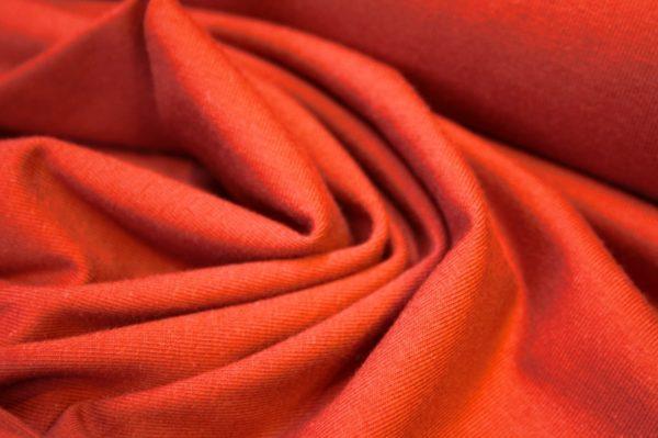Bomuldsjersey ensfarvet rust rød (fv. 72) - FabricRoad